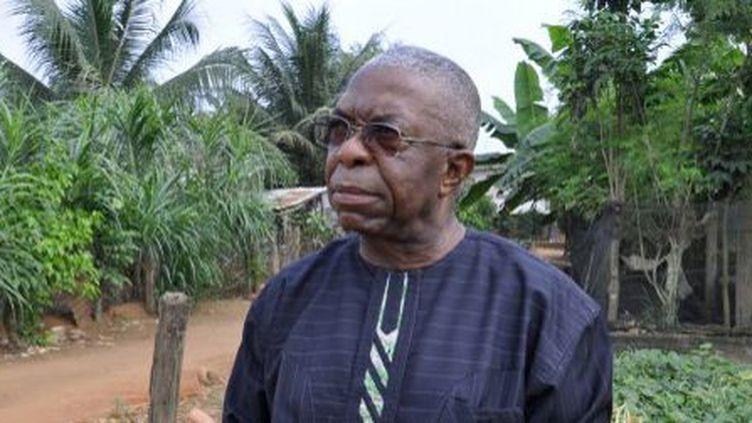 Le fondateur et directeur de Songhaï,Godfrey Nzamujo, sur les lieux de l'exploitation qu'il a fondée en 1985. (AFP - Charles Placide Tossou)