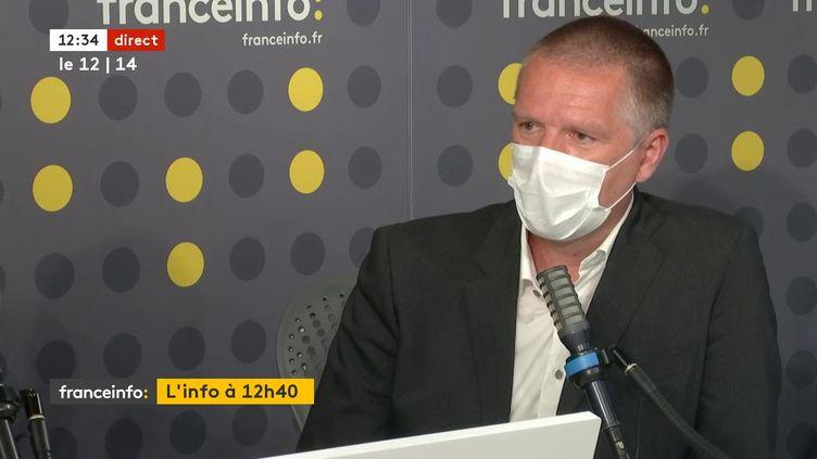 Le directeur général de l'ANSSI, Guillaume Poupard, sur franceinfo, le 10 juin 2021. (FRANCEINFO / RADIO FRANCE)