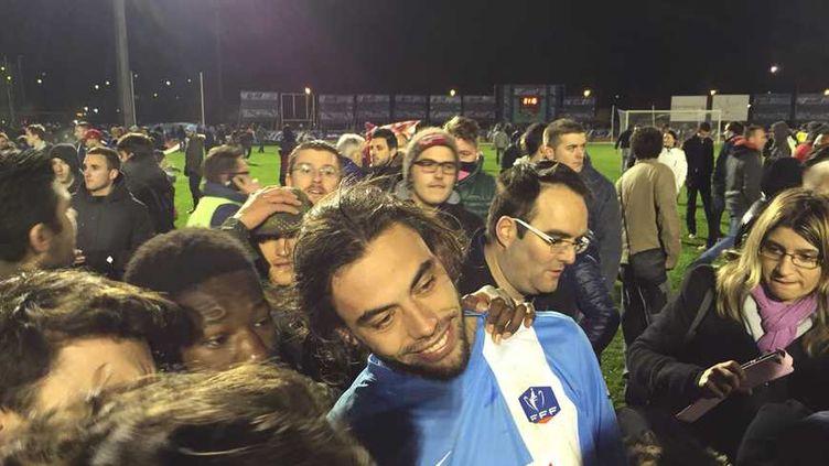 (Trélissac (CFA) a créé l'exploit (1-1 a.p., 4-2 t.a.b.) mercredi en 16e de finale de Coupe de France © Radio France / France Bleu Périgord)