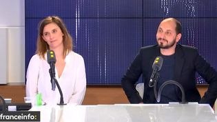 Les journalistes Camille Girerd et Kartim Rissouli (C Politique), invités de franceinfo le 28 mai 2019 (RADIO FRANCE)