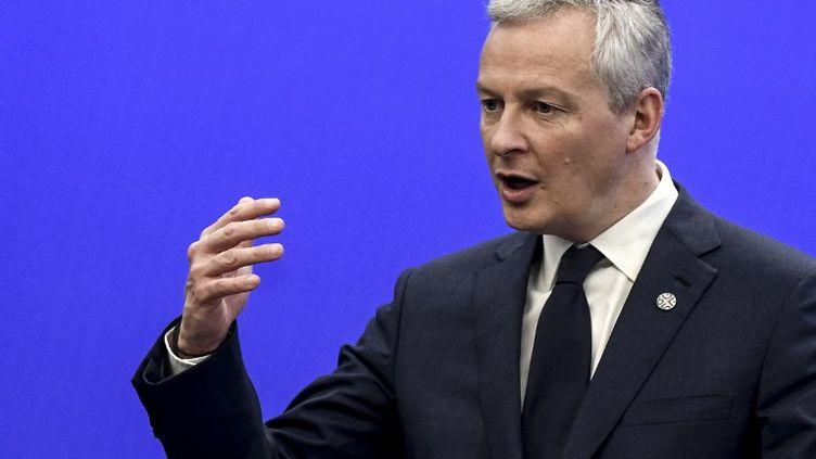Bruno Le Maire, le ministre de l'Economie, le 28 avril 2018. (STR / AFP)