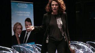 Chantal Jouanno, à Châtenay-Malabryen décembre 2015, durant la campagne des élections régionales. (JACQUES DEMARTHON / AFP)