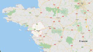 Des galettes de fioul lourd ont été signalées sur plusieurs plages de Loire-Atlantique et sur une plage de Vendée. (GOOGLE MAPS)