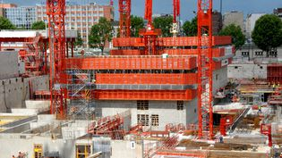 Le chantier du nouveau tribunal de grande instance de Paris, le 6 mai 2015. (CITIZENSIDE / PATRICE PIERROT / AFP)