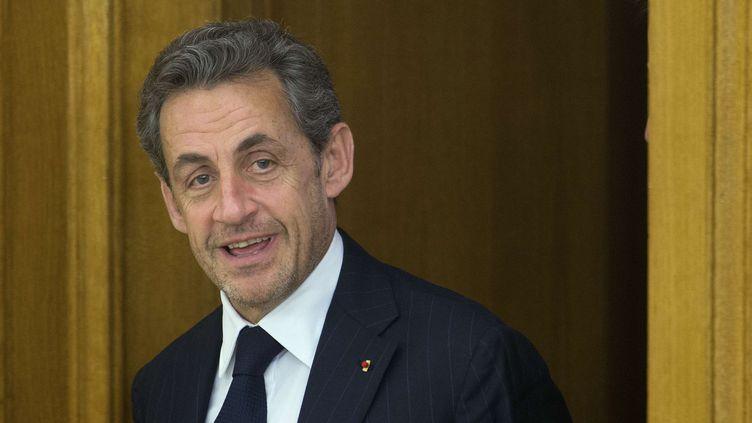 L'ancien président de la République Nicolas Sarkozy, le 28 mai 2014, à Madrid (Espagne). (PAUL WHITE / AP / SIPA)