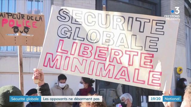 """Loi """"sécurité globale"""" : des milliers de manifestants protestent contre l'article 24"""