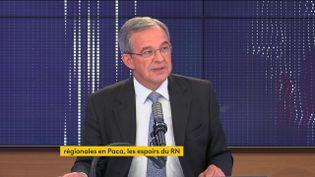 Thierry Mariani, candidat RN aux élections régionales en Paca, invité du 8H30 franceinfo, jeudi 3 juin 2021. (FRANCEINFO)