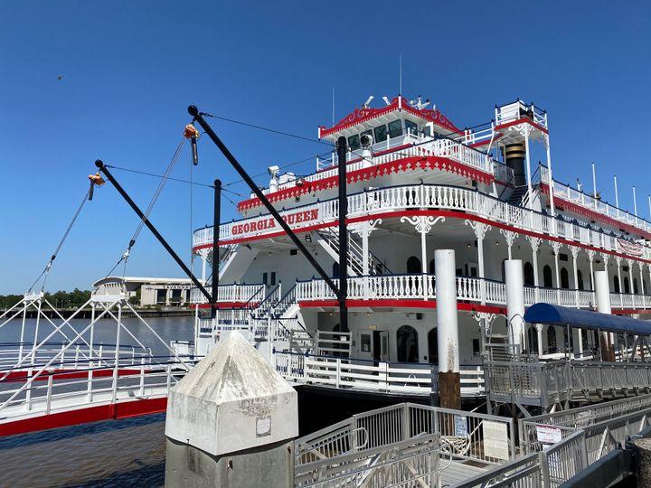 Un bateau à roue typique du sud des États-Unis à Savannah(Géorgie), en mai 2020. (GRÉGORY PHILIPPS / RADIO FRANCE)