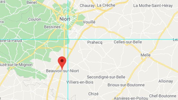 CarteBeauvoir-sur-Niort Google Maps. (GOOGLE MAPS)