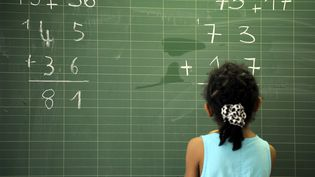Une élève de primaire, dans une école d'Epinal (Vosges), le 13 juin 2014. (MAXPPP)