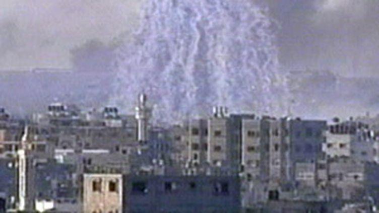L'armée israélienne utiliserait des bombes au phosphore à Gaza, 2009. (© France 2)