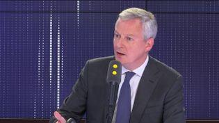 """Bruno Le Maire, leministre de l'Économie et des Finances, invité du """"8h30 Fauvelle-Dély"""", jeudi 13 juin 2019. (FRANCEINFO / RADIOFRANCE)"""