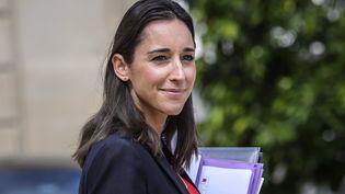 Brune Poirson, secrétaire d'État auprès du ministre de la Transition écologique et solidaire, le 9 août 2017 à l'Elysée. (MAXPPP)