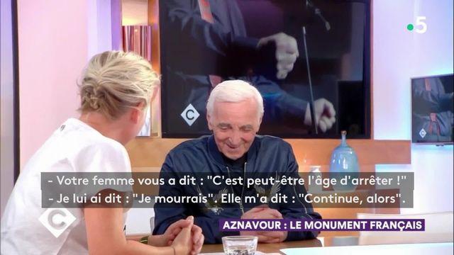 La dernière interview de Charles Aznavour