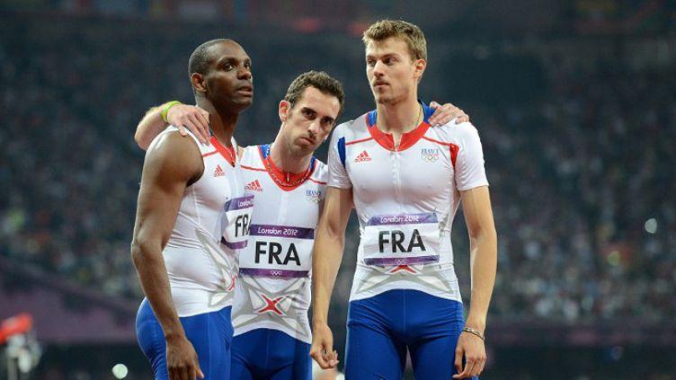 Ronald Pognon, Pierre-Alexis Pessonneaux et Christophe Lemaitre déçus en finale du relais