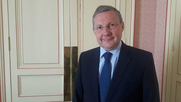 Philippe Bas, président de la commission qui a auditionné Alexandre Benalla. (SEBASTIEN BAER / FRANCEINFO / RADIO FRANCE)