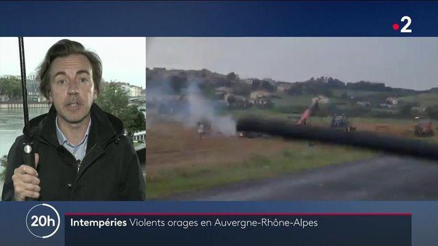 Des catastrophes dues aux orages dans la région Auvergne-Rhône-Alpes.