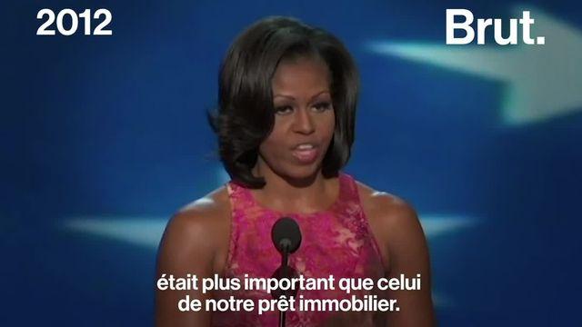 """Alors que son autobiographie """"Devenir"""" est publiée ce mardi 13 novembre, retour sur le parcours engagé de Michelle Obama, la première """"First Lady"""" afro-américaine de l'histoire des États-Unis."""