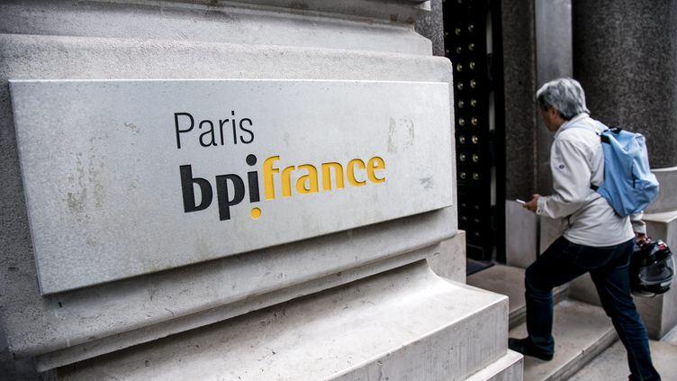 Entrée de Bpifrance à Paris. Photo d'illustration. (VINCENT ISORE / MAXPPP)