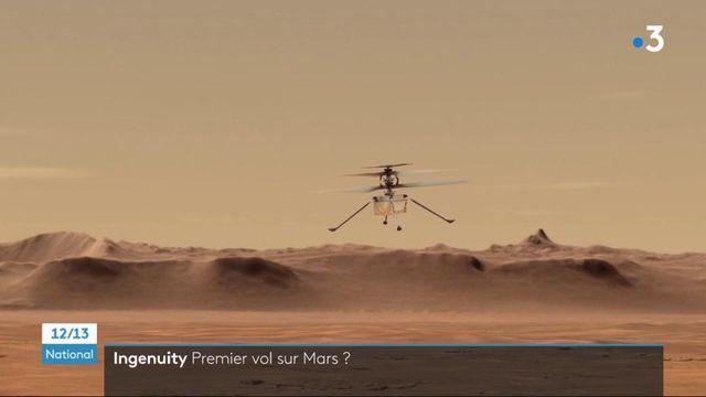 Espace : Ingenuity, le premier mini-hélicoptère à voler sur la planète Mars