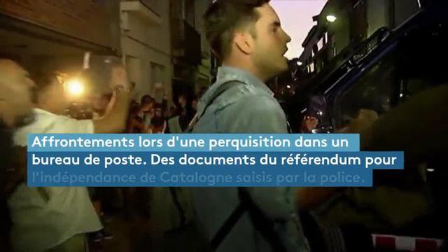 Manifestations après des arrestations en Catalogne