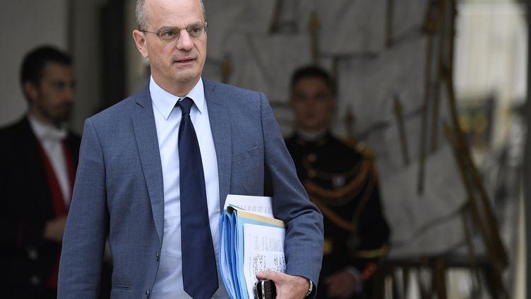 Jean-Michel Blanquer, le 24 octobre 2018, à Paris. (ERIC FEFERBERG / AFP)