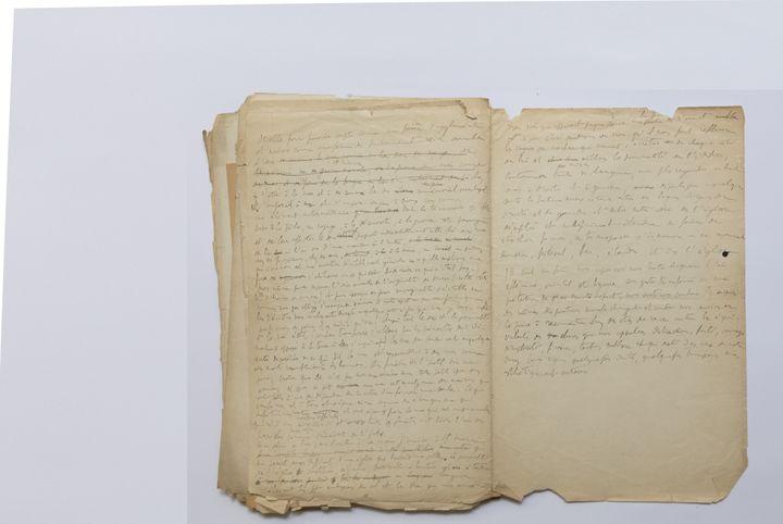 """Manuscrit des """"75 Feuillets"""" inédits de Proust (FRANCESCA MANTOVANI @BNF-Editions Gallimard 2021)"""