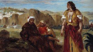 """Détail de """"Vue de Tange"""",Eugene Delacroix (1798-1863), 1852. Huile sur toile. Minneapolis, Institute Of Arts  (Photo Josse / Leemage )"""
