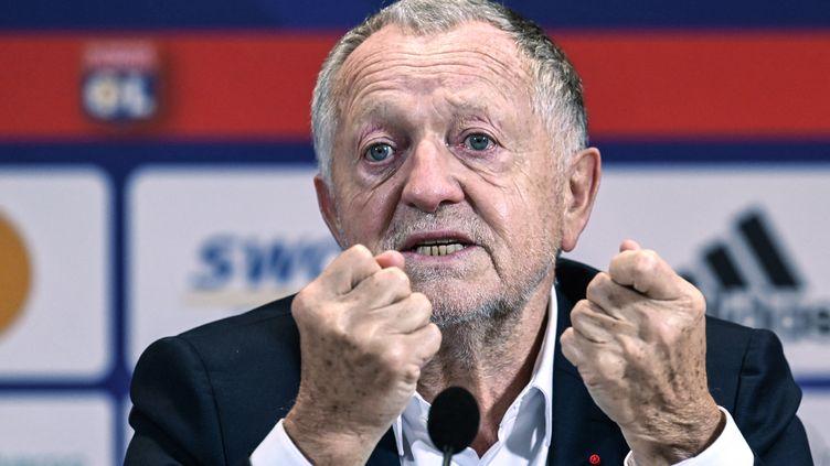 Jean-Michel Aulas, le président de l'Olympique lyonnais, le 25 janvier 2021. (PHILIPPE DESMAZES / AFP)