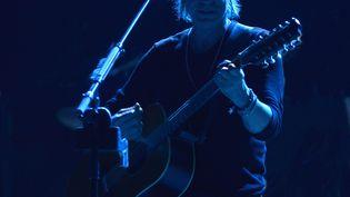 Jean-Louis Aubert sur scène à Nîmes (Gard) le 29 juin 2012 (FABRICE FOURES / MAXPPP)
