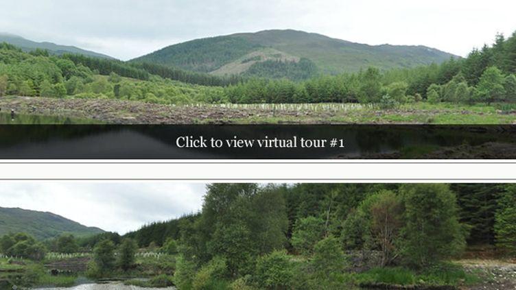 (Les parcelles proposées sont situées dans deux secteurs des Highlands © Capture d'écran du site Highland Titles)