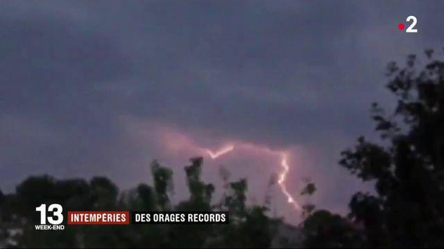 Météo : record de l'année pour les orages