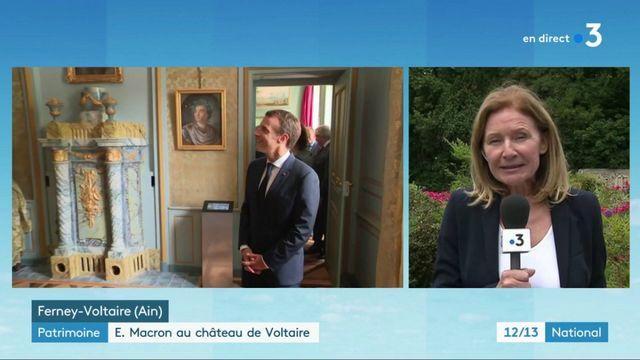 Patrimoine : Emmanuel Macron en visite au château de Ferney-Voltaire