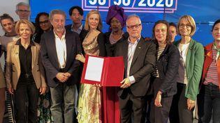 Signature de la charte en faveur de la parité femmes-hommes, 14 mai 2018 à Cannes
