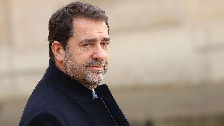 Le ministre de l'Intérieur, Christophe Castaner, mercredi 19 février 2020 à Paris. (LUDOVIC MARIN / AFP)