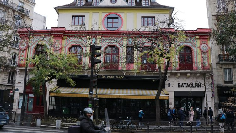 Le Bataclan à Paris, le 13 novembre 2020. (ALAATTIN DOGRU / ANADOLU AGENCY / AFP)