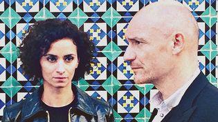 """La comédienne Rachida Brakni et le musicien et chanteur Gaëtan Roussel réunis sur le projet """"Lady Sir"""" sortent un album.  (DR Barclay)"""