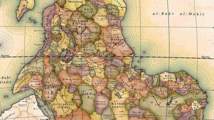 La carte de l'Afrique imaginée par l'artiste suédois Nikolaj Cyon. (Nikolaj Cyon)