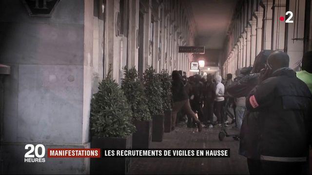 Manifestations : les recrutements de vigiles en hausse
