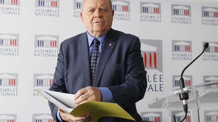 René Dosière,président de l'Observatoire de l'éthique publique et ancien député socialiste, à Paris le 22 mai 2017. (THOMAS SAMSON / AFP)