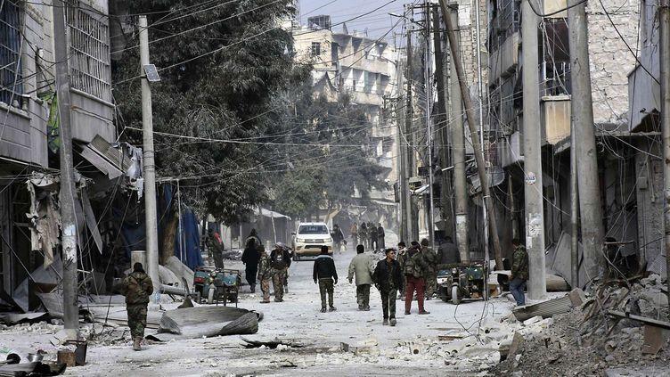 Dans les rues d'Alep Est, le 12 décembre 2016. (UNCREDITED/AP/SIPA / AP)