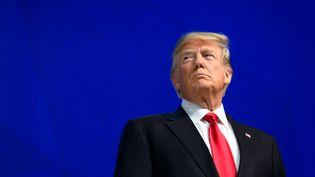 Le président américain, Donald Trump, à Davos, en Suisse, le 26 janvier 2018. (FABRICE COFFRINI / AFP)