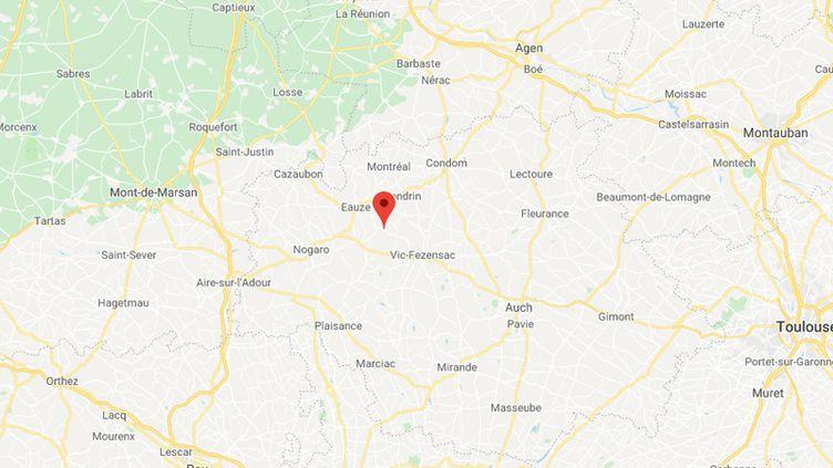 Ramouzens, dans le Gers. (CAPTURE D'ECRAN GOOGLE MAPS)