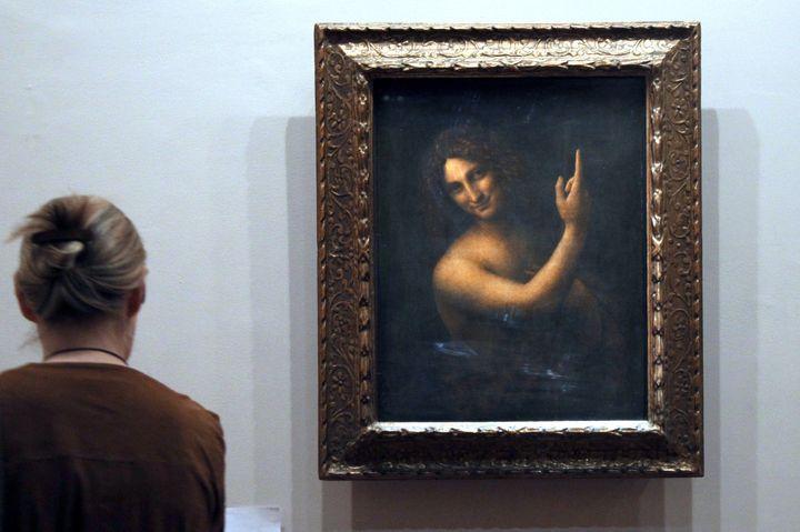 Le Saint Jean Baptiste de Léonard de Vinci au Louvre  (JACQUES DEMARTHON / AFP)