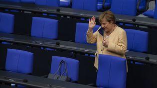 Angela Merkel au Bundestag, le 7 septembre 2021. (JOHN MACDOUGALL / AFP)