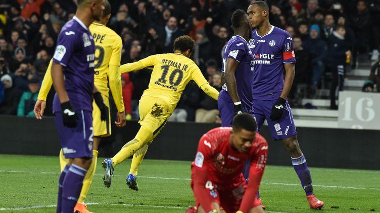 Neymar (PSG) a fait plier Toulouse  (PASCAL PAVANI / AFP)