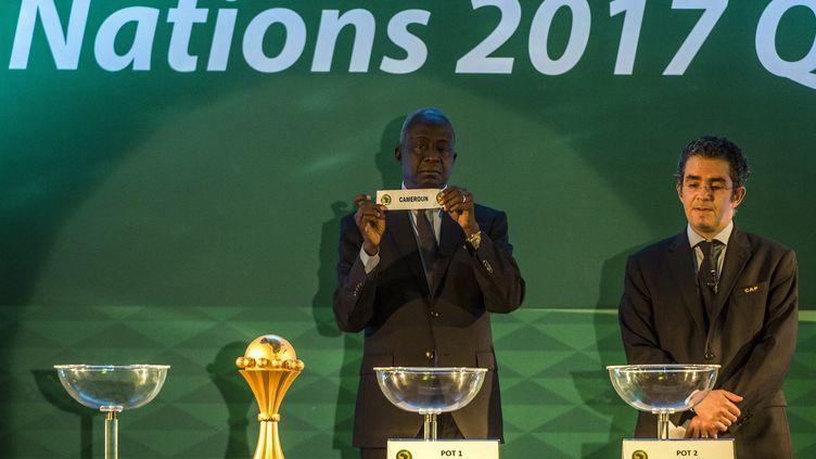 Le Cameroun lors du tirage au sort de la CAN 2017. (- / AFP)