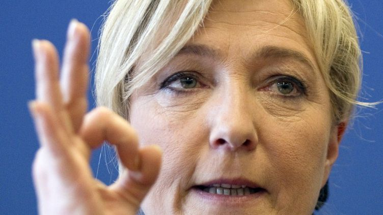 Marine Le Pen, le 10 avril 2012. (JOEL SAGET / AFP)