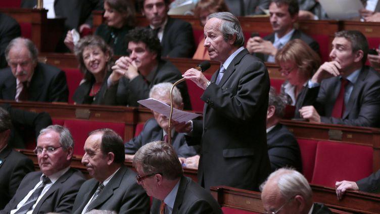 Le député Roger-Gérard Schwartzenberg (Parti radical de gauche), le 10 octobre 2012, à l'Assemblée nationale. (JACQUES DEMARTHON / AFP)