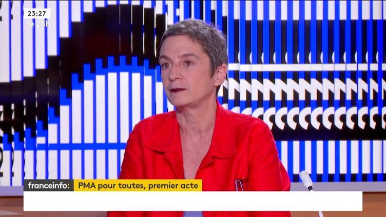 L'avocate et conseillère de Paris Caroline Mecary (FRANCEINFO)